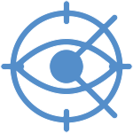 Blue Cataract Surgery Icon