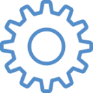 Blue Gear Icon