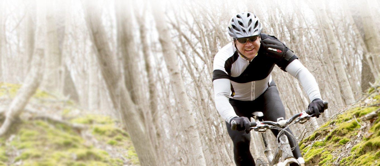 Biker riding after shoulder surgery